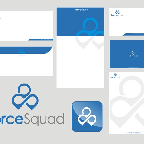 bold logo for force squad