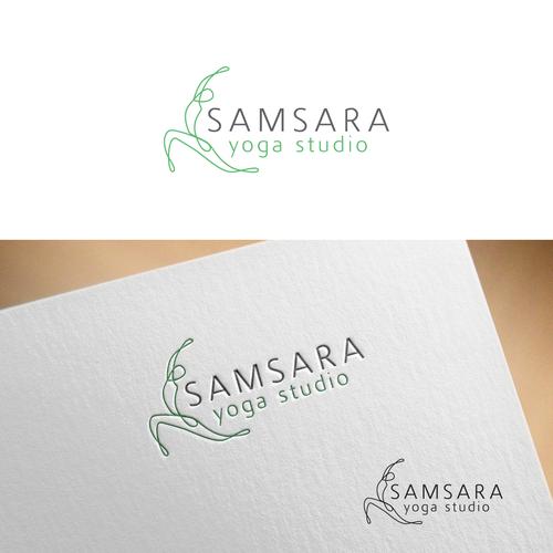 Yoga logo for SAMSARA yoga studio