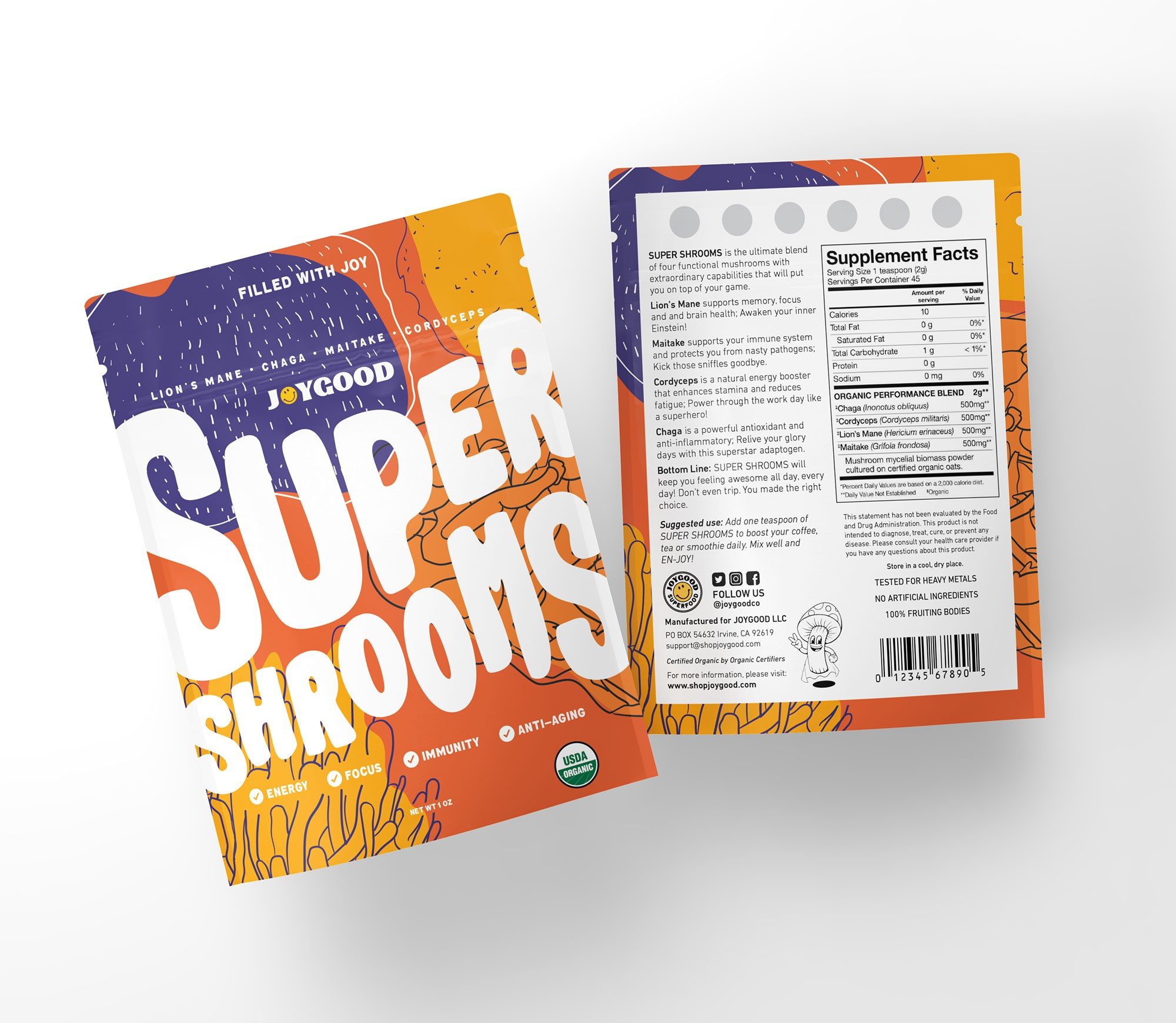 We need KICK ASS packaging for our Organic Superfood product!