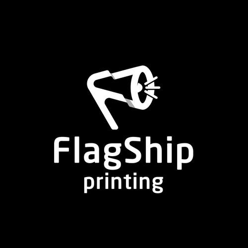 flagship printing logo concept