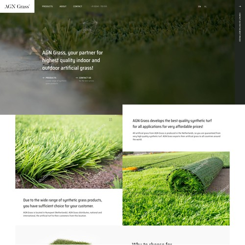 AGN - Synthetic Turf - WordPress website