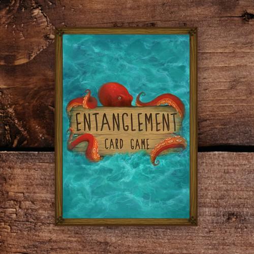 Card deck back illustration