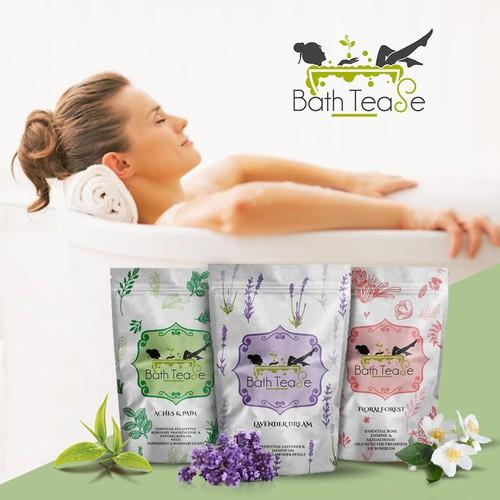 BathTease Green Tea Bath Ad Design