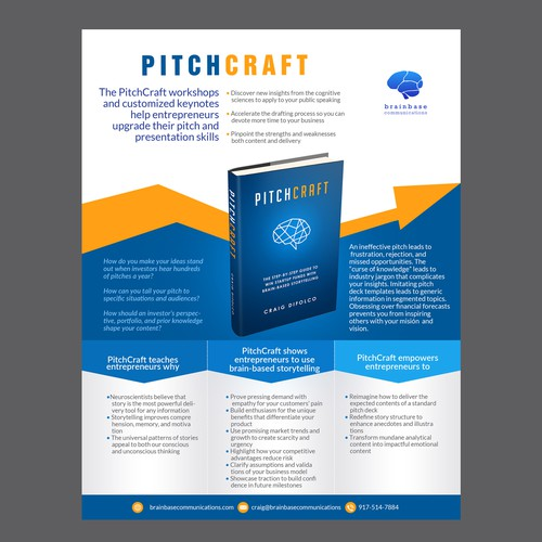 Design a One-Pager for a Startup Pitch Workshop