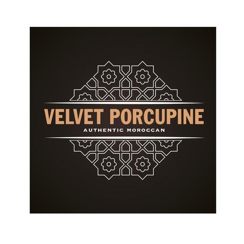 Moroccan restaurant logotype