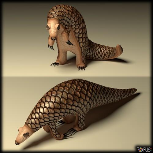Pangolin - 3D Character Mascot