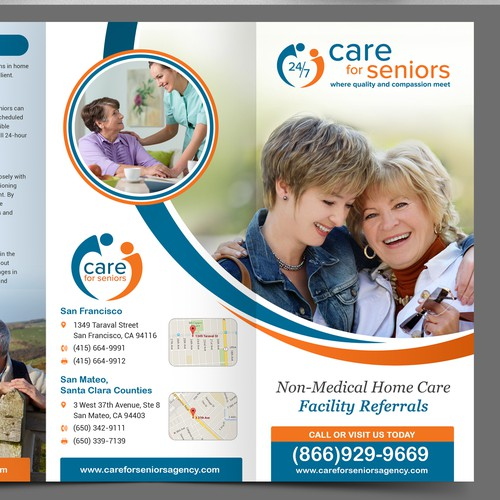 Create a Brochure for Care for Seniors