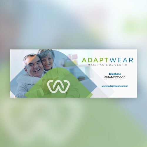 Facebook cover for adaptive clothing brand