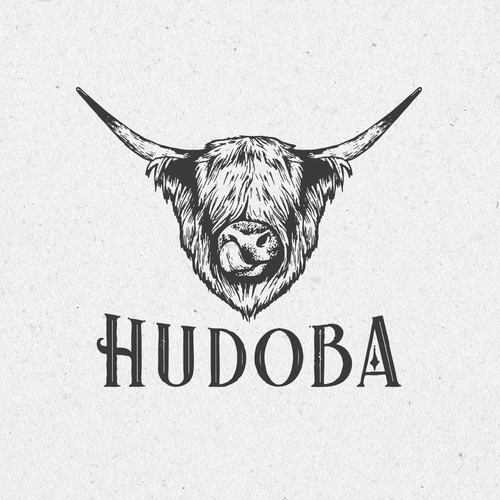 Retro logo for Hudoba pets food