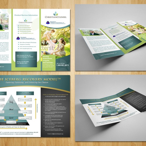 Create the next brochure design for ChristianCounsel and The Institute for Sexual Integrity