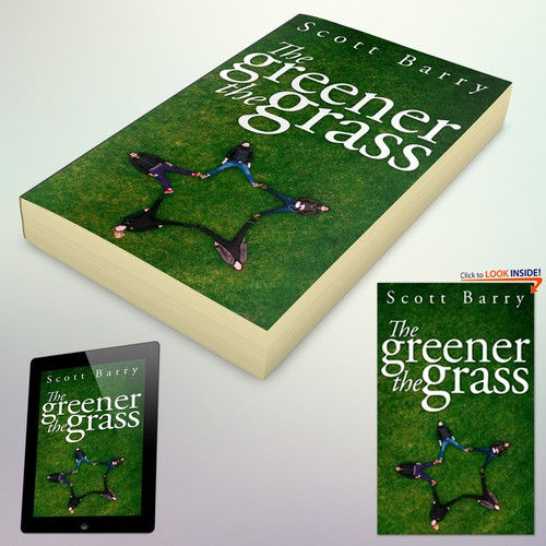 """Book Cover Concept for """"The Greener the Grass"""""""