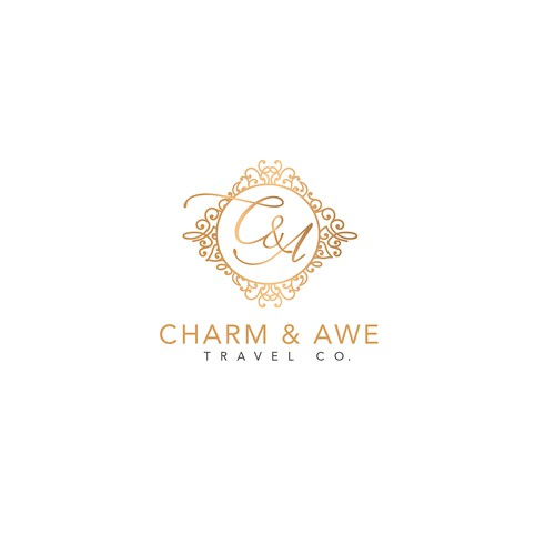 Stylish and luxurious logo for travel company