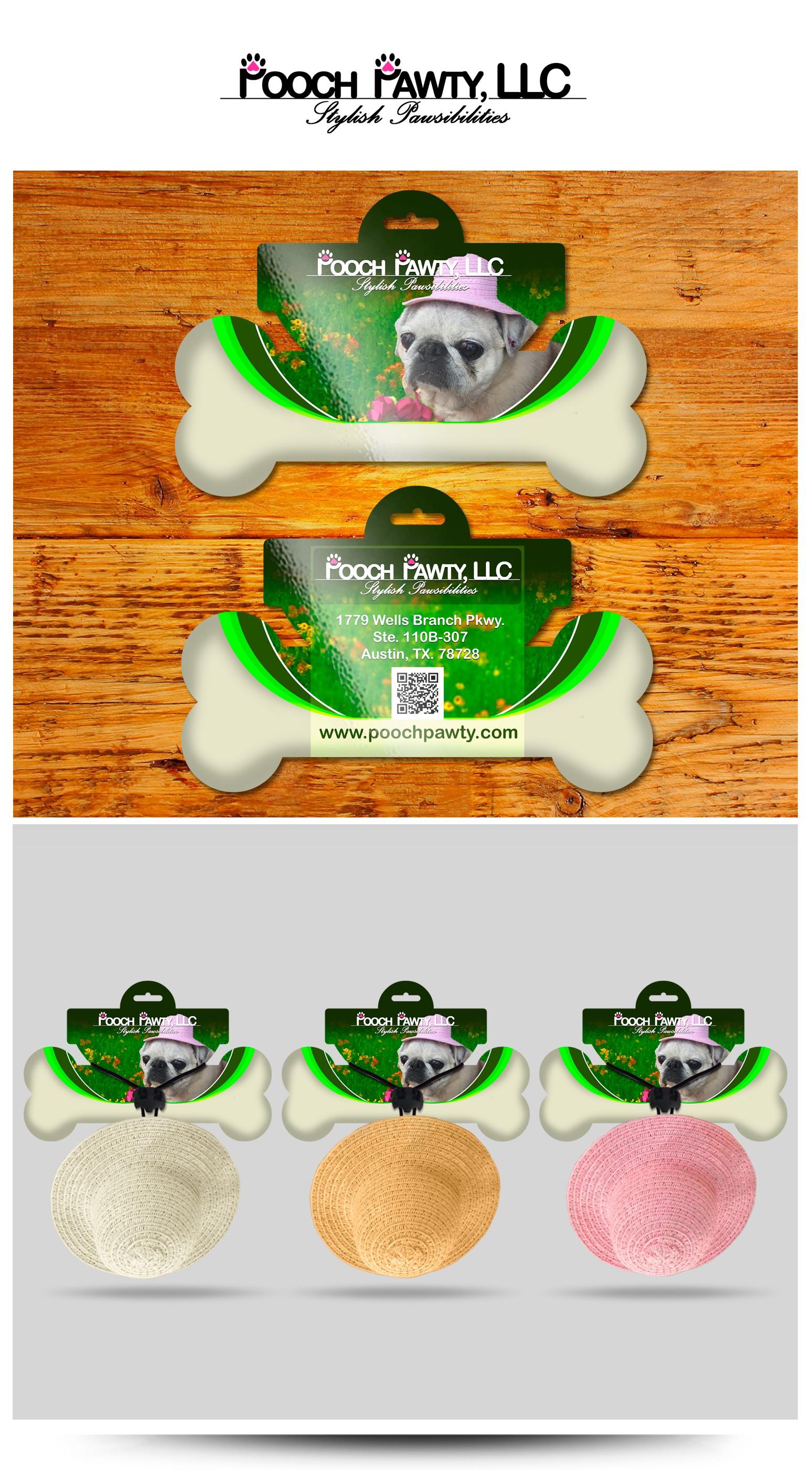 Create a capturing illistration for a designer summer hat for a dog