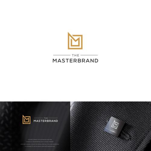 Minimalisitic logo style. Letter M