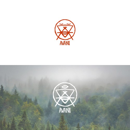 Avani logo concept for somewhat mystical, tribe like.