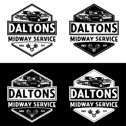 BOLD LOGO FOR DALTONS MIDWAY SERVICE