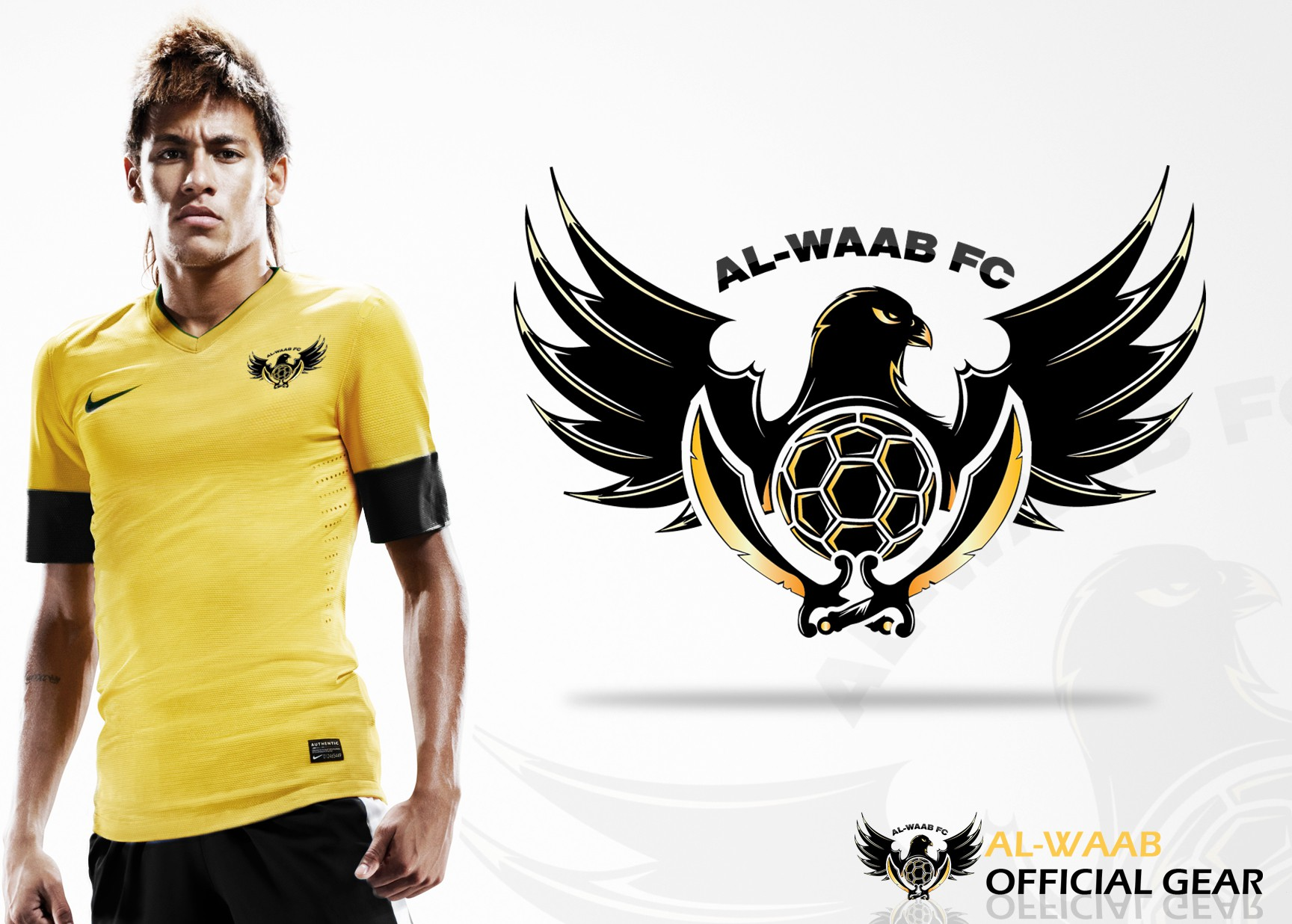 Create the next clothing or merchandise design for Al-Waab FC