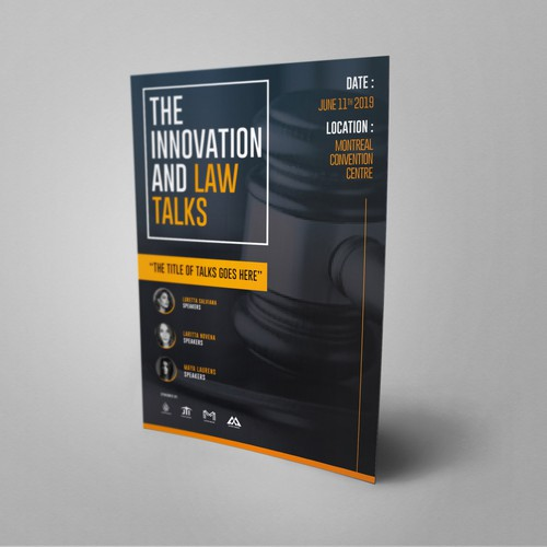 Design for The Innovation & Law Talks