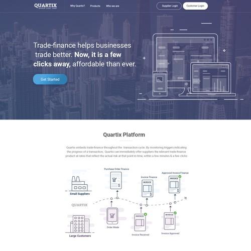 Landing Page design for Quartix