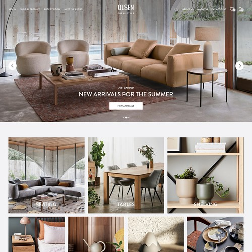 Web design for Interior Marketplace
