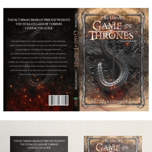 Book cover for the ultimate game of thrones character guide