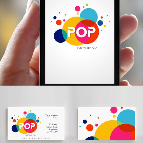 captivating logo for POP