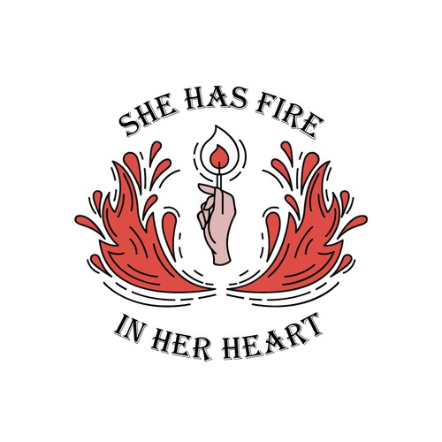 she has fire in her heart