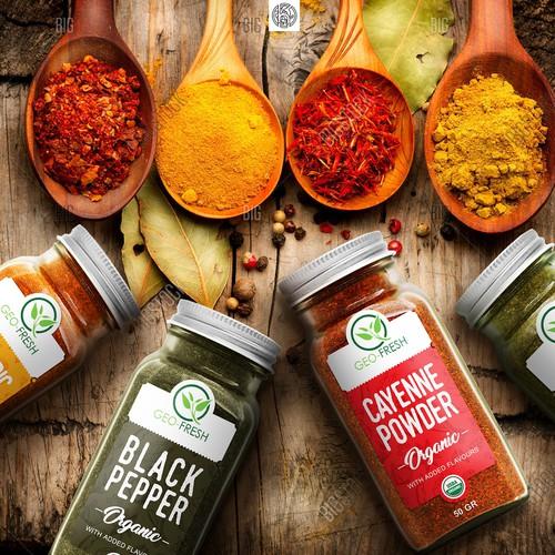 Organic spices Label