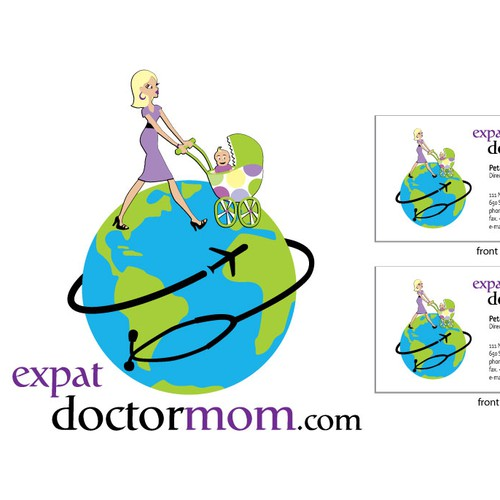 Classy Logo for Online Healthcare, Travel, and Parenting Website