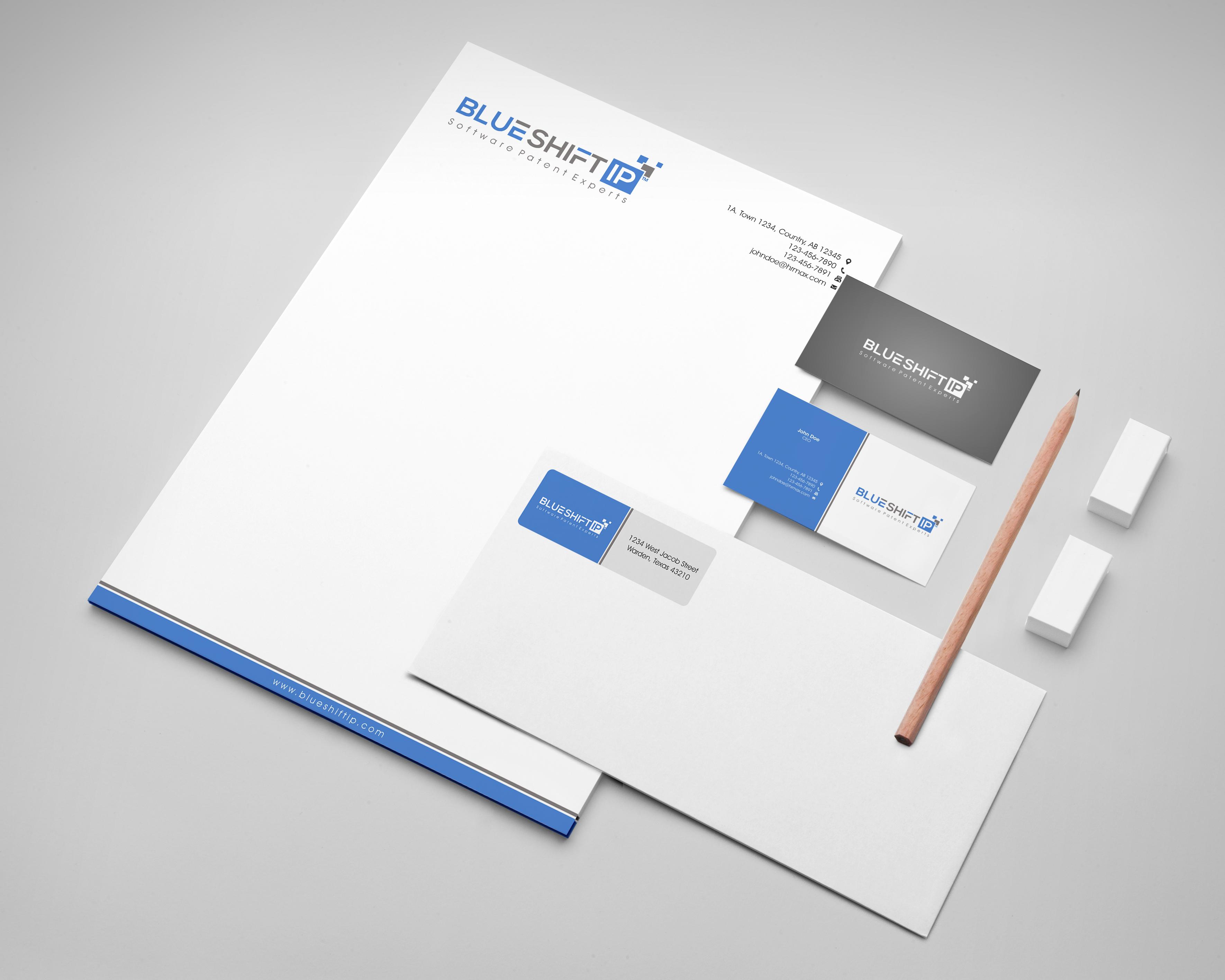 Business Card, letterhead, return address label, power point template