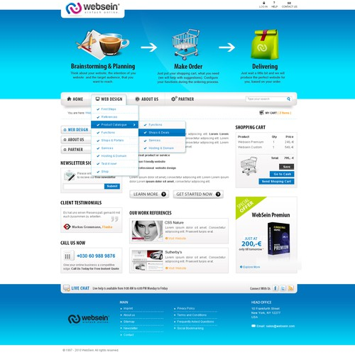 Webdesign & Icondesign for a Webdesign Company