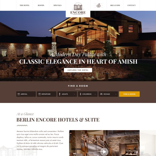 Elegant design for Amish Hotel