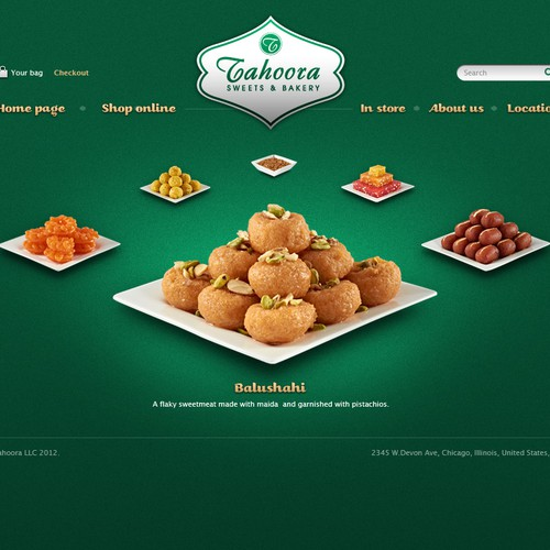 Help Tahoora Sweets & Bakery with a new website design