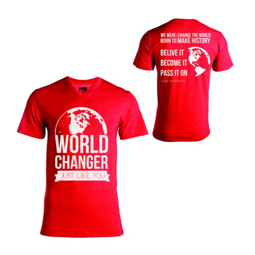Change the World T-Shirt Design