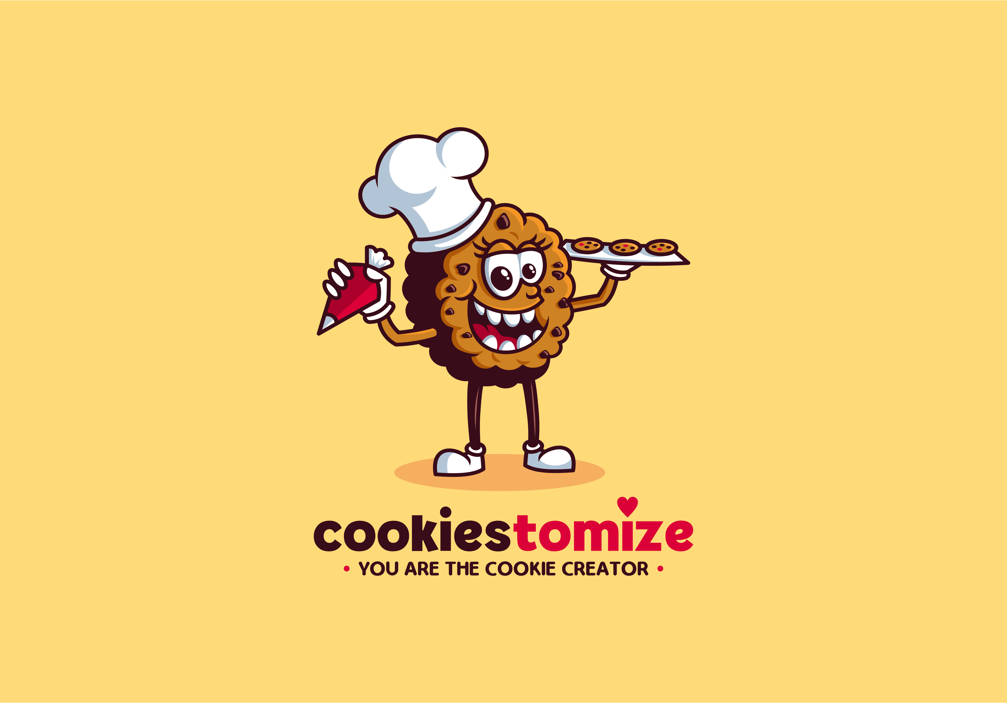 "Design a relative logo to ""Cookiestomize"""