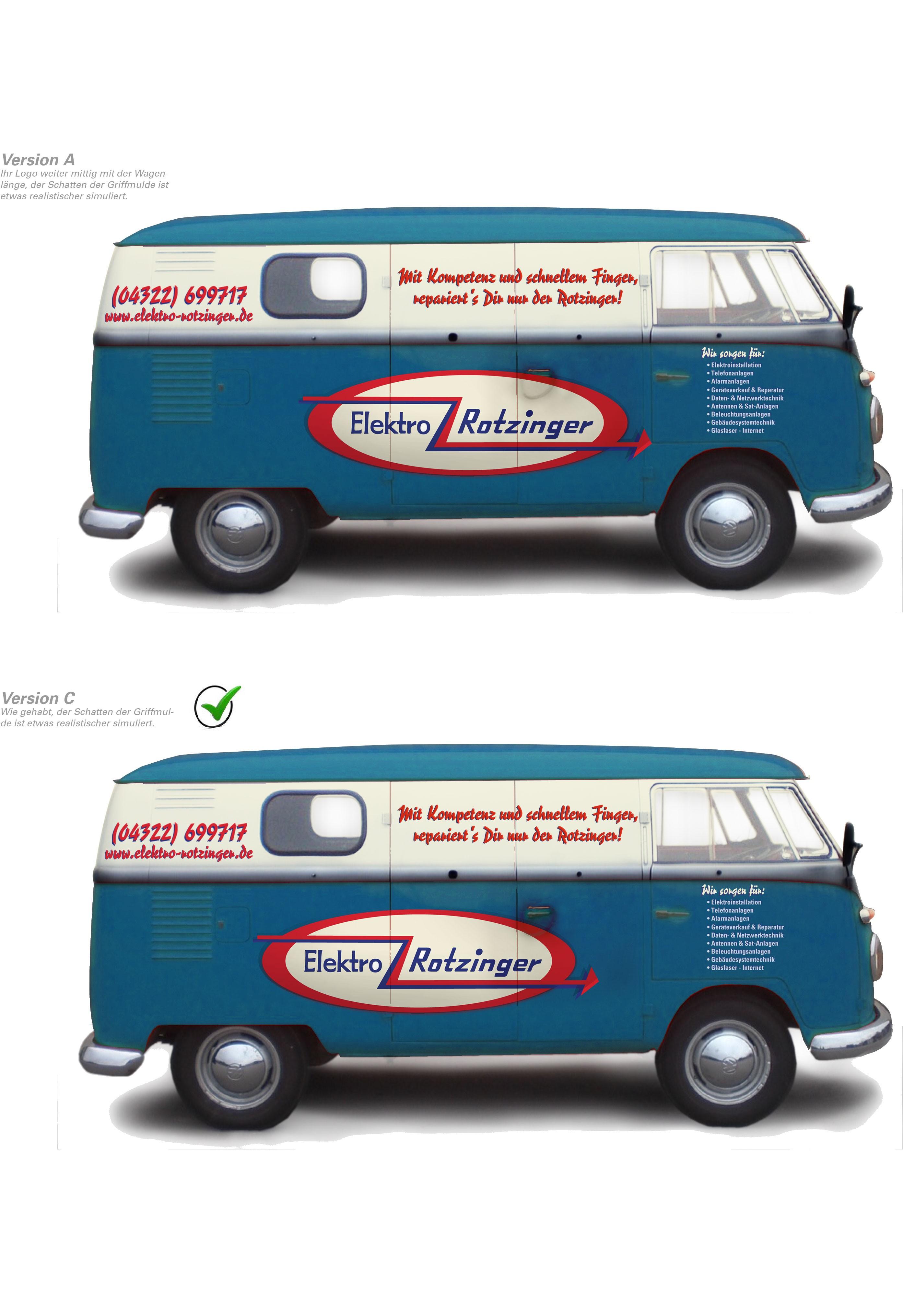 VW Bus T1 - Erstellt eine auffällige Retro Beschriftung