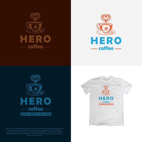 Logo concept for coffee selling company.