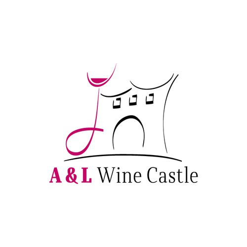 Wine Castle Logo Design