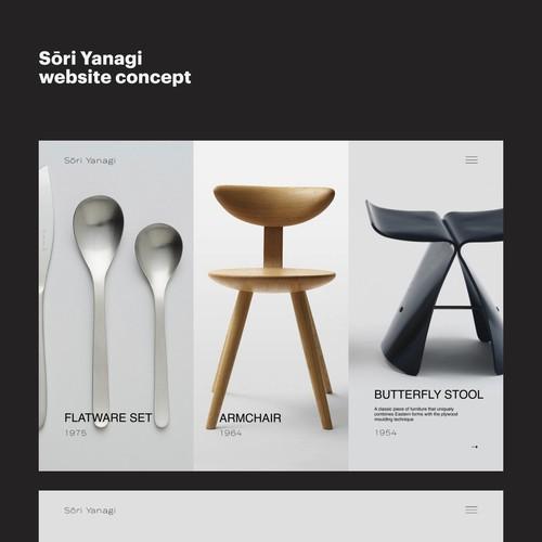 Furniture designer's concept website