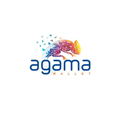 modern logo for agama wallet