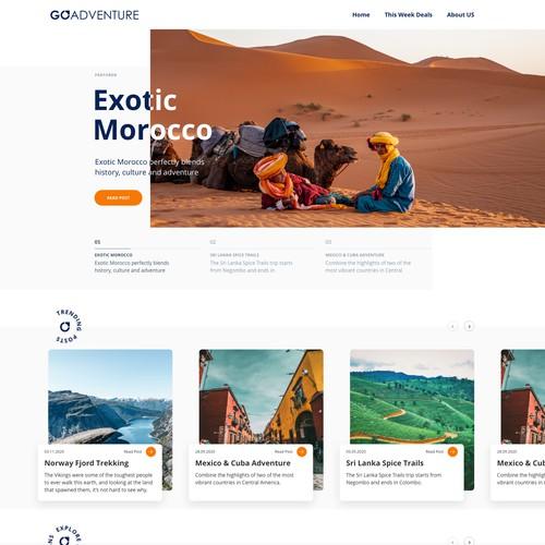 Travel Blog Website Design