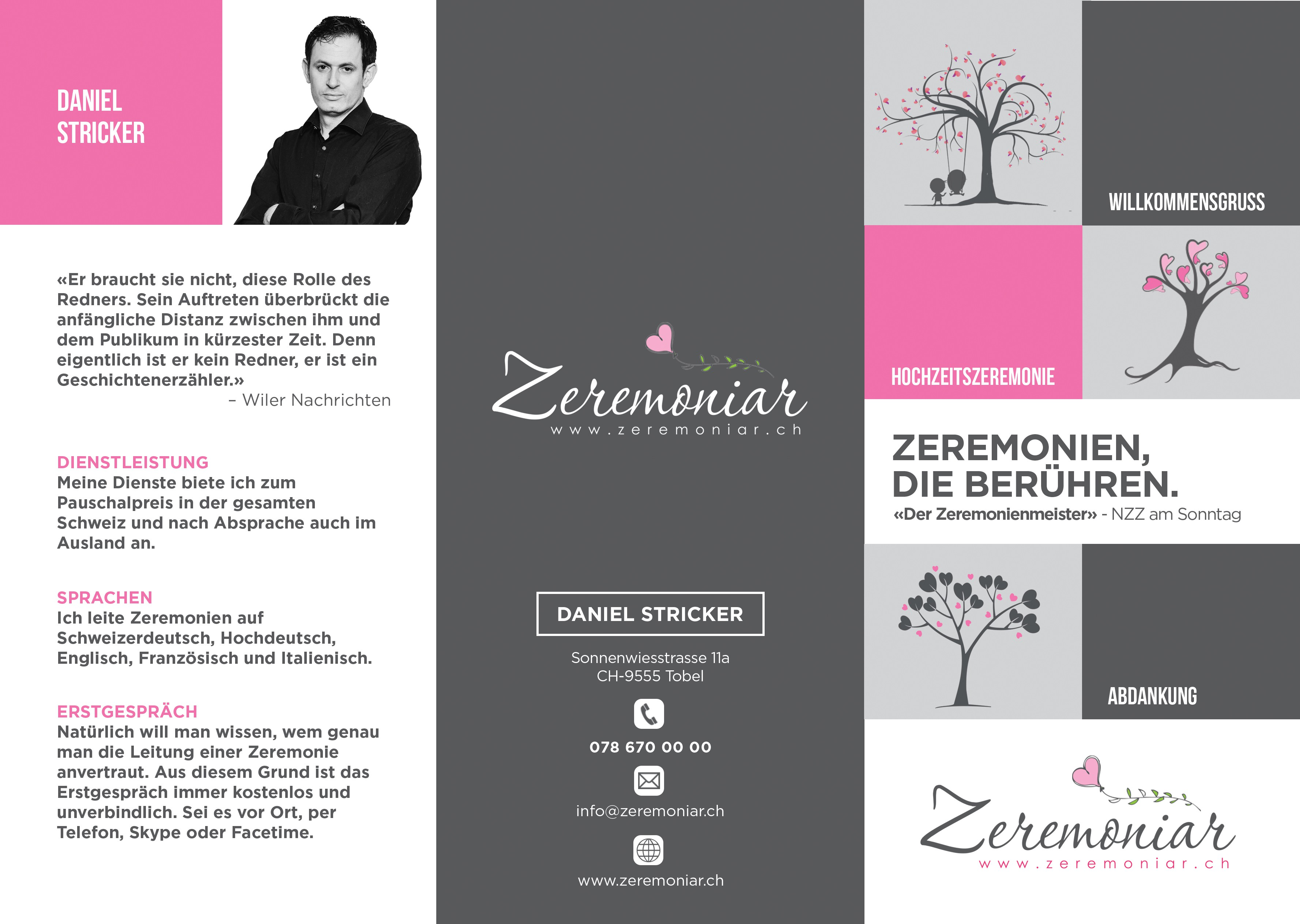 Brochure for Master of Ceremonies (A4 - folded twice): A4 - roll-folded or z-folded: http://imex-print.co.uk/images/DL-6