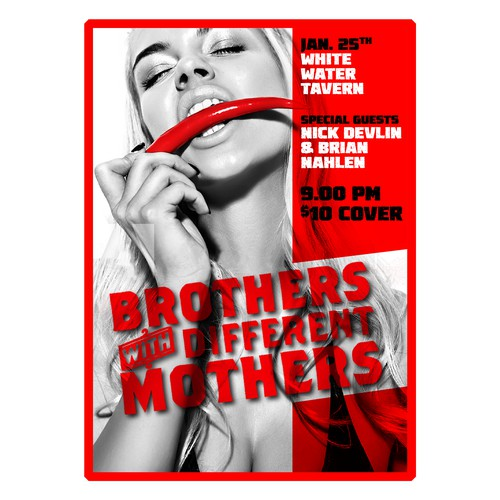 "Poster for ""Brothers with Different Mothers"" band,"