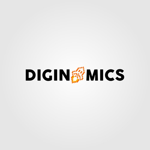 bits and digital notes style rocket (DIGINOMICS)
