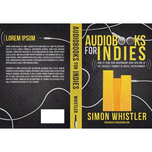 Create an impactful book cover about audiobook production for indie authors.