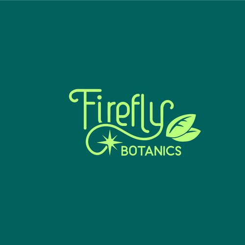 Firefly Botanics logo design concept