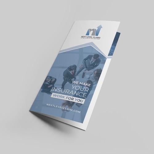 Tri-fold brochure for insurance adjuster company