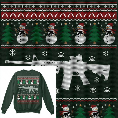 AR15 Ugly Sweater