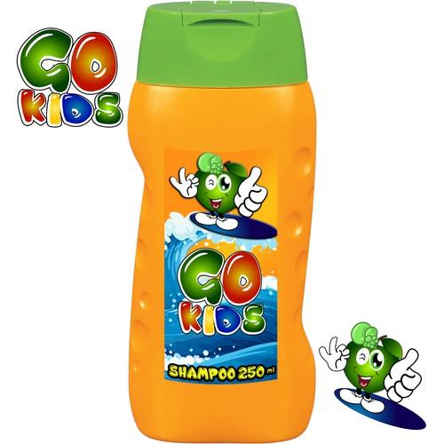 Label for kids shampoo