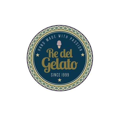 Vintage Logodesign für Eismanufaktur